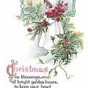 Vintage Christmas Blessings Poster