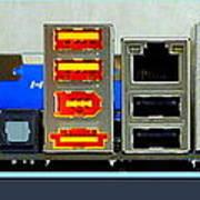 Vintage Circuit Board Connectors Poster