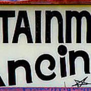 Vintage Dance Sign Poster