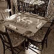 Vintage Domino Table Poster