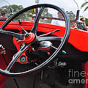 Vintage Ford - Steering Wheel... Controls - Circa 1920s Poster by Kaye Menner