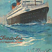 Vintage French Line Travel Poster Poster