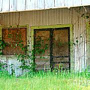 Vintage Gas Station In Springtime  Poster