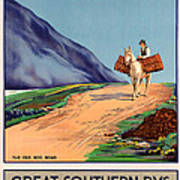 Vintage Ireland Travel Poster Poster