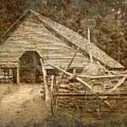 Vintage Looking Old Barn In The Great Smokey Mountains Poster