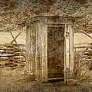 Vintage Looking Old Outhouse In The Great Smokey Mountains Poster