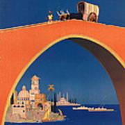 Vintage Mediterranean Travel Poster Poster