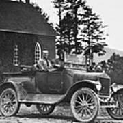 Vintage Photo Of Men In Truck Poster