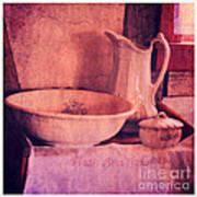 Vintage Pitcher And Wash Basin Poster