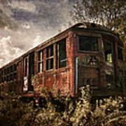 Vintage Rail Car Poster