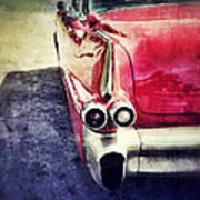 Vintage Red Car Poster