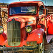 Vintage Red Dodge Poster
