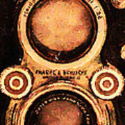 Vintage Rolleiflex Camera . Long Cut . 7d13357 Poster