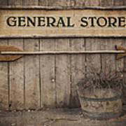 Vintage Sign General Store Poster
