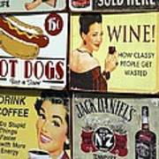 Vintage Signs Poster