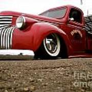 Vintage Style Hot Rod Truck Poster