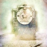 Vintage Train Engine Poster