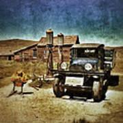Vintage Vehicle At Vintage Gas Pumps Poster by Jill Battaglia