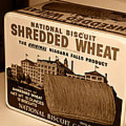 Vintage Wheat Poster