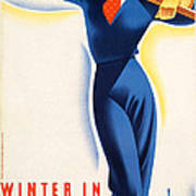 Vintage Winter In Austria Travel Poster Poster