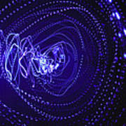 Violet Neon Lights 2 Poster