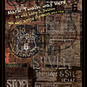 Virginia City Nevada Grunge Poster Poster