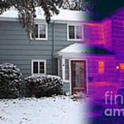 Visible And Infrared Image Of A House Poster