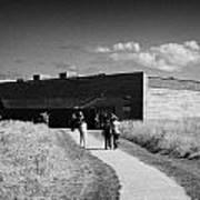 visitors centre at Culloden moor battlefield site highlands scotland Poster by Joe Fox
