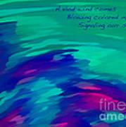 Vivid Wind Haiku Poster