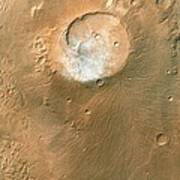 Volcano On Mars Poster