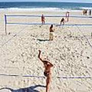 Volleyball On The Beach  Poster