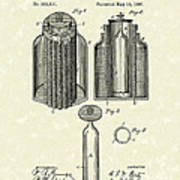 Voltaic Battery 1887 Patent Art Poster