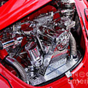 Vw Beetle With Chrome Engine Poster by Kaye Menner
