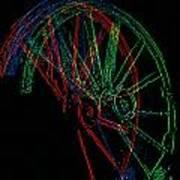 Wagon Wheels In Wheels Poster