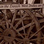 Wagon Wheels Of St. Croix Poster by Dennis Stein