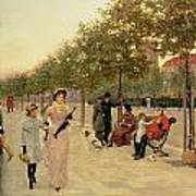 Walk Along The Embankment At Chelsea Poster