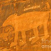 Wall Street Cliffs Petroglyph - Moab Poster