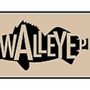 Walleye Pike Poster by Geoff Strehlow
