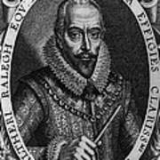 Walter Raleigh, English Courtier Poster