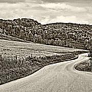 Wandering In West Virginia Sepia Poster