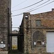 Warehouse Beams And Drain Pipe Poster