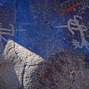 Warrior Petroglyph Poster