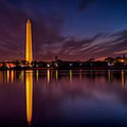 Washington Monument Reflections Poster