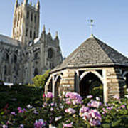 Washington National Cathedral And Stone Poster