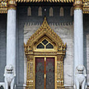Wat Benchamabophit Ubosot Front Entrance Dthb1242 Poster