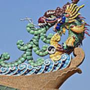 Wat Chaimongkol Pagoda Dragon Finial Dthb787 Poster