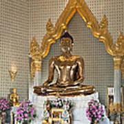 Wat Traimit Golden Buddha Dthb964 Poster