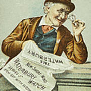 Watch Trade Card, C1880 Poster