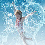 Water Baby Poster by Suni Roveto