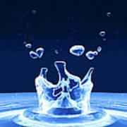 Water Drop Impact Poster by Pasieka